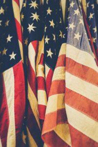USA - cytaty prezydentów. flaga